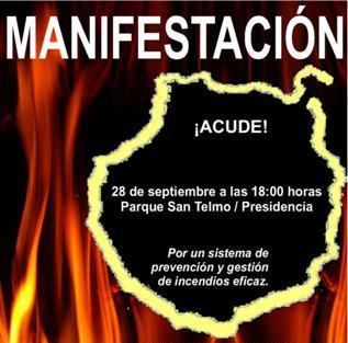Manifestación contra los incendios y por la prevención