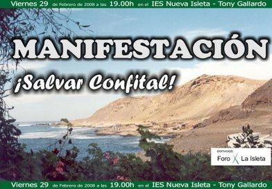 VIERNES 29 MANIFESTACION- SALVAR EL CONFITAL
