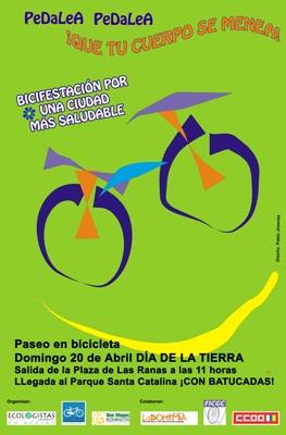 Las Palmas de GC: Bicifestación en el Día de la Tierra