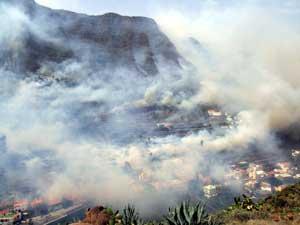 El fuego de La Gomera ya está controlado