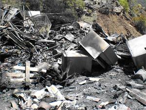 Penalización por vertido y quema ilegal de residuos