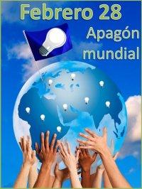 APAGÓN MUNDIAL EL 28 FEBRERO PARA DARLE UN RESPIRO AL PLANETA