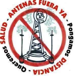 Manifestación contra las antenas de telefonía el sabado 27 a las 11:30 horas.