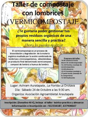 TALLER DE COMPOSTAJE CON LOMBRICES