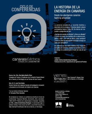 """Conferencia en el Museo Elder """"Historia de la energía en Canarias."""