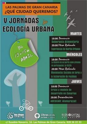 V Jornadas de Ecología Urbana