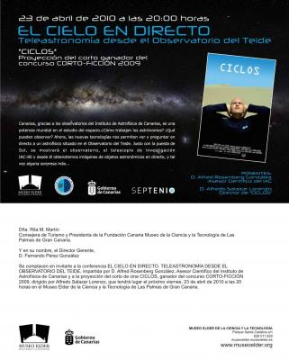 MUSEO ELDER  EL DIA 23 DE ABRIL  - VIERNES