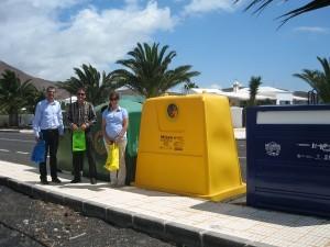 El Cabildo de Lanzarote aumenta en un 26,4% el número de contenedores de residuos en el municipio de Teguise