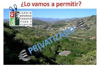 La posible privatización del Jardín Canario moviliza a la comunidad educativa y ambiental